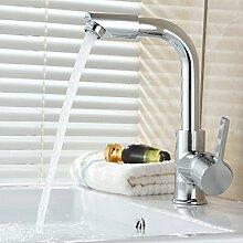 Moderner Swivel Auslauf Küchenspüle Mischbatterie, Silber ( Size : Boutique basin faucet )