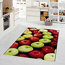 moderner Teppich Äpfel 80 x 200 cm