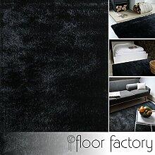 Moderner Teppich Delight anthrazit grau 120x170cm - edler Designer Teppich mit flauschig weichem Flor