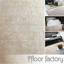Moderner Teppich Delight beige 140x200cm - edler Designer Teppich mit flauschig weichem Flor