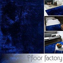 Moderner Teppich Delight blau 200x200cm - edler