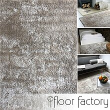 Moderner Teppich Delight silber grau 140x200cm -