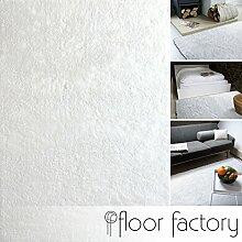 Moderner Teppich Delight weiß 200x290cm - edler Designer Teppich mit flauschig weichem Flor