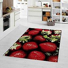 moderner Teppich Erdbeere 120 x 170 cm
