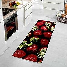 moderner Teppich Erdbeere 80 x 150 cm