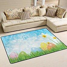 Moderner Teppich für drinnen und draußen Frohe