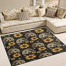 Moderner Teppich für Innen und Außen Sunflower