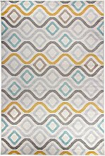 Moderner Teppich Geometrische Muster Mehrfarbig
