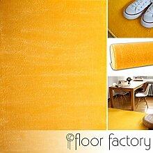 Moderner Teppich Kolibri gelb 160x230cm - farbenfroher, pflegeleichter Teppich mit kurzem Flor