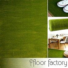 Moderner Teppich Kolibri grün 140x200cm - farbenfroher, pflegeleichter Teppich mit kurzem Flor