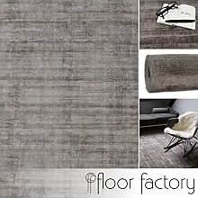 Moderner Teppich Lounge grau 140x200cm - edler Designer Teppich im Vintage Look