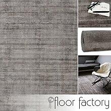 Moderner Teppich Lounge grau 160x230cm - edler Designer Teppich im Vintage Look