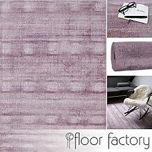Moderner Teppich Lounge rosa 120x170cm - edler Designer Teppich im Vintage Look