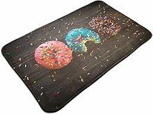 Moderner Teppich mit Donut-Muster, besonders