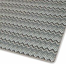 Moderner Teppich mit Zick Zack Muster | ausgezeichnet mit GUT-Siegel | pflegeleichtes Flachgewebe | viele Größen (Taupe, 140x200 cm)