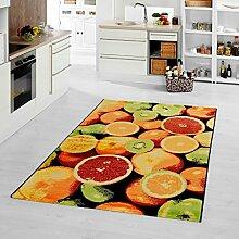 moderner Teppich Orange 80 x 200 cm