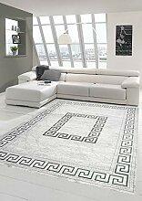 Moderner Teppich Orientteppich mit Glitzergarn mit