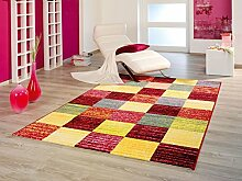 moderner Teppich Quadrate 120 x 170 cm