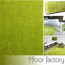 Moderner Teppich Seasons grün 120x170 cm - flauschig weicher Hochflor Teppich in aktuellen Trendfarben