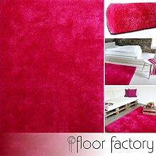 Moderner Teppich Seasons pink 140x200 cm - flauschig weicher Hochflor Teppich in aktuellen Trendfarben
