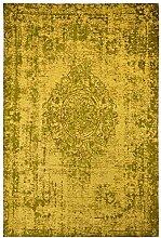 Moderner Teppich Vintage my Milano 572 grau, rot, gelb, shabby look,used look , flachgewebe (155 x 230 cm, MIL 872 ginger gelb gold)