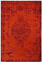 Moderner Teppich Vintage my Milano 572 grau, rot, gelb, shabby look,used look , flachgewebe (120 x 170 cm, MIL 572 rot)