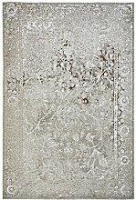 Moderner Teppich Vintage my Milano 573 grau, rot, gelb, shabby look,used look , flachgewebe (155 x 230 cm, MIL 573 taupe braun grau)