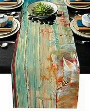 Moderner Tischläufer aus Baumwollleinen, 91,4 cm,