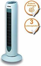 moderner Turmventilator - Ventilator mit Drehfunktion - Säulenventilator 77cm 50W Oszillation - grau