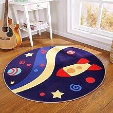 Moderner und einfacher runder teppich Wohnzimmer schlafzimmer arbeitszimmer teppich-H Durchmesser100cm(39inch)