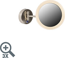 Moderner Wandspiegel Chrom inkl. LED IP44 - Barba