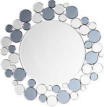 Moderner Wandspiegel in Grau und Silberfarben 80