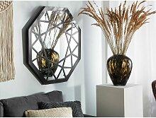 Moderner Wandspiegel mit Muster-Rahmen achteckig
