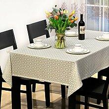 Modernes Chinesisches Restaurant Tischdecke,Hotel Rechteckiges Decktuch,Einfache Tischdecke-A 130x190cm(51x75inch)