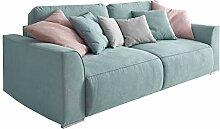Modernes Design Big Sofa WEEKEND aquamarin