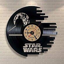 Modernes Design Star Wars Innovative Vinyl Wanduhr