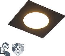Modernes Einbaustück schwarz inkl. LED 3-stufig