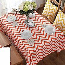 Modernes Einfaches Tuch Baumwolle Leinen Canvas Tuch/Tee Tischdecke-A 90x140cm(35x55inch)