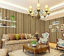 Modernes Extra dicker Vlies europäischen modernen minimalistischen Country Luxus Tapete, Rolle für Wohnzimmer Schlafzimmer TV Hintergrund Wand 0,53m (52,8cm) * 10Mio. (32,8') M = 5.3sqm (M³), Only the wallpaper, Color: dark coffee color 80117