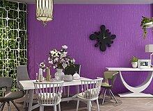 Modernes Extra dicker Vlies europäischen modernen minimalistischen Country Luxus Tapete, Rolle für Wohnzimmer Schlafzimmer TV Hintergrund Wand 0,53m (52,8cm) * 10Mio. (32,8') M = 5.3sqm (M³), Wallpaper only, Viole