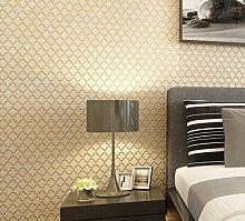 """Modernes extrathick Vlies europäischen modernen minimalistischen Country Luxus Tapete, Rolle für Wohnzimmer Schlafzimmer TV Hintergrund Wand 0,53m (52,8cm) * 10Mio. (32,8') M = 5.3sqm (M³), Only the wallpaper, Beige """"93604"""