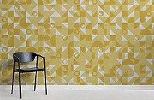 Modernes gelbes Bauhaus-geometrisches