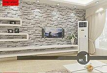 Modernes gestapelt Ziegel 3D Stein Tapete Rolle grau Stein Tapete Wand Wallpaper für Wohnzimmer PVC Vinyl Wall Paper Color_White