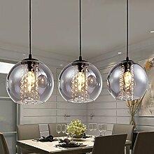 Modernes Glas Kugel Kristall Deckenleuchte Küche