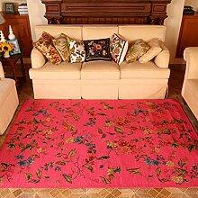Modernes Gorgeous Flowers Home Teppiche–memorecool Haustierhaus Acryl Faser reaktiver Druck Wohnzimmer/Schlafzimmer/Tisch/Sofa Bereich Teppiche Maschinenwaschbar 139,7x 200,7cm violett, Rosered, 55x79inch