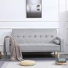 Modernes graues 2-Sitzer Sofa im Wohnzimmer