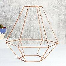 Modernes Kupfer Draht Diamond Lampenschirm (Kupfer)