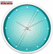 modernes minimalistischen Wohnzimmer Kunst Mauer Runde Zimmer Silent Clock Tisch Metall elektronische Uhren 30 cm