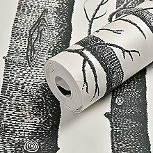 Modernes, minimalistisches weißer Reis Tapeten, Zweige geprägte 3D, Umweltschutz Wald, Vliesstoffe, Tapeten, Wohnzimmer, TV, Hintergrund, Wand, Tapete