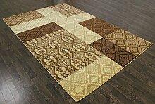 Modernes rubicelle Medium Teppich 7,5x 5.2ft braun Moderne Teppiche Teppich a2zrug